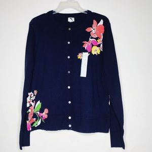 NWOT A New Day Floral Cardigan